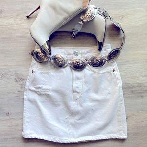 Levi's White Denim Skirt